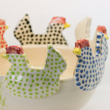 Load image into Gallery viewer, Chicken cut out ceramic bowl