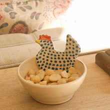 Load image into Gallery viewer, Small Blue Chicken Ceramic Bowl