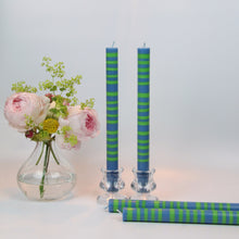 Load image into Gallery viewer, Nanking Blue & Grass Green Eco Dinner Candles, 4 Per Pack