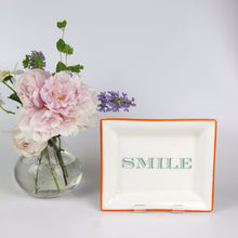 Load image into Gallery viewer, English Fine Bone China Dish - Smile (Orange)