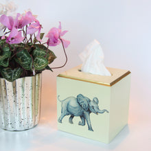Load image into Gallery viewer, Lacquered Tissue Box Cover - Elephant