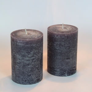 Rustic Pillar Candle - Winters Night