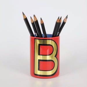Alphabet Brush Pot - B (Carnation)