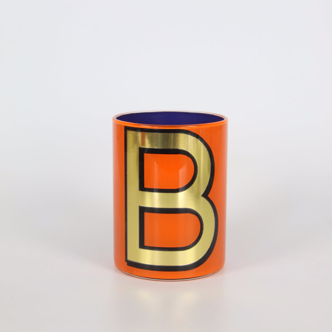 Alphabet Brush Pot - B (Orange)