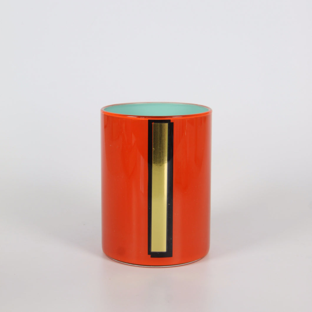 Alphabet Brush Pot - I (Orange)