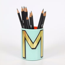 Load image into Gallery viewer, Alphabet Brush Pot - M (Aqua)