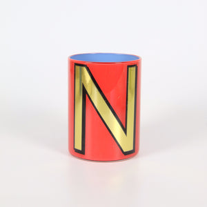 Alphabet Brush Pot - N (Carnation)