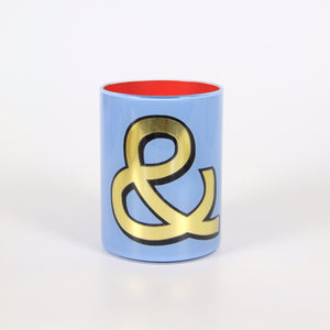 Alphabet Brush Pot - & (Periwinkle)