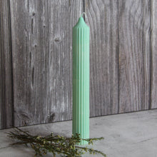 Load image into Gallery viewer, Tall Ridged Pillar Candle - Turquoise