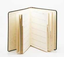 Load image into Gallery viewer, Large White Gold Metallic Leather Address Book