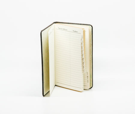 Small Green Leather Address Book