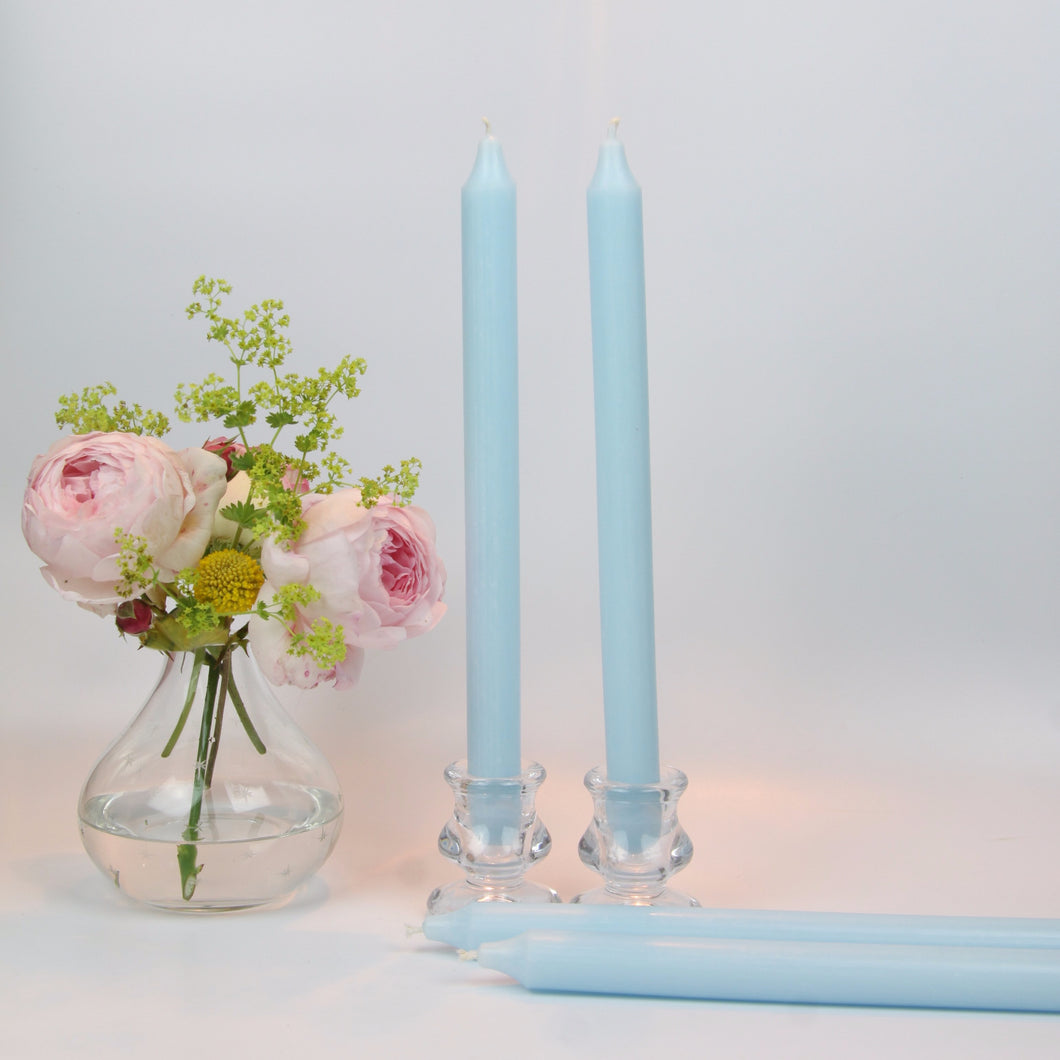 Ice Blue Candles - Set of Four