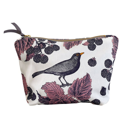 Large Blackbird & Bramble Cosmetic Bag