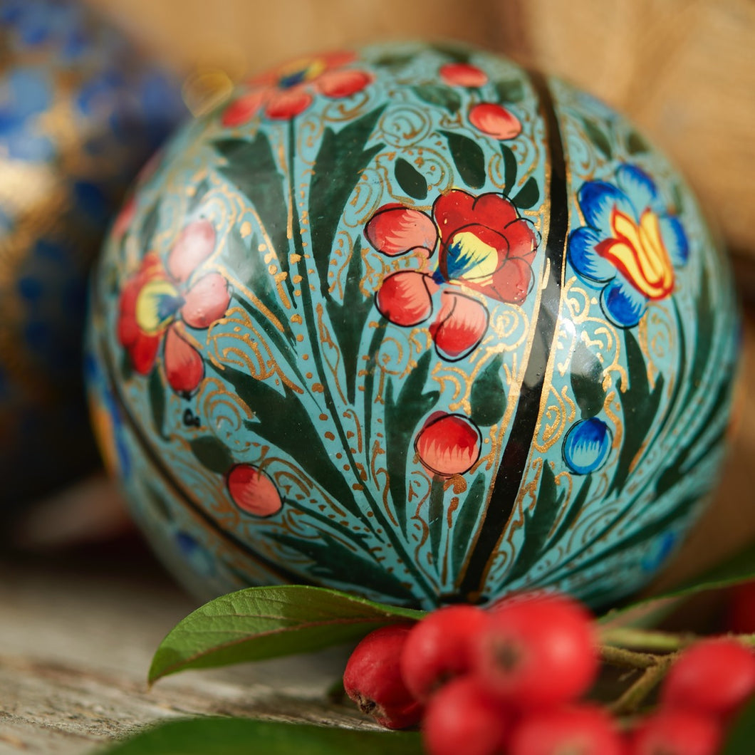 Indian Floral Hand-painted Bauble