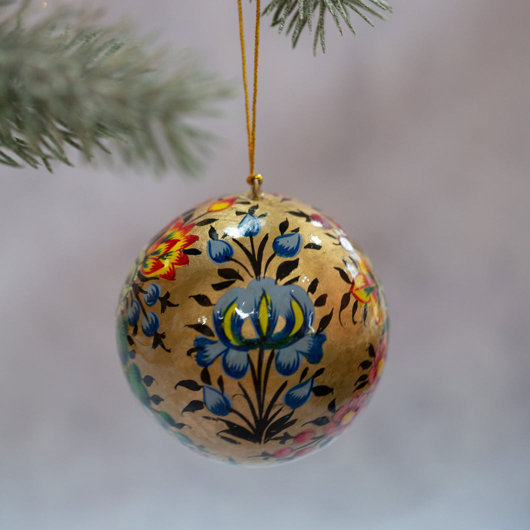 Indian Gold Foral Bauble