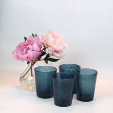 Load image into Gallery viewer, Navy Glass Blown Tumblers, Set of Four