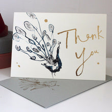 Load image into Gallery viewer, Peacock Thank You Card