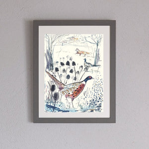 Pheasant and Fox Print
