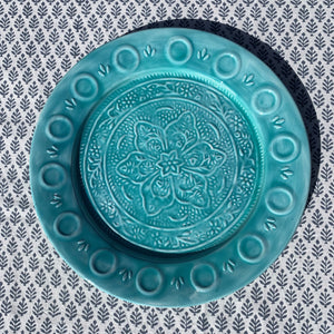 Turquoise Enamel Plate