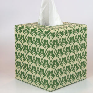 Tissue Box Cover - Green Sprig