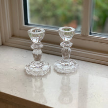 Load image into Gallery viewer, Luna Glass Candlestick - Clear