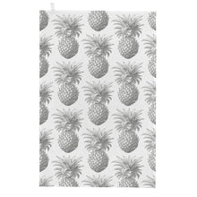 Load image into Gallery viewer, Grey Pineapple Tea Towel