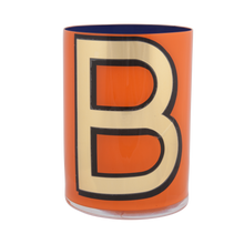 Load image into Gallery viewer, Alphabet Brush Pot - B (Orange)