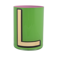 Load image into Gallery viewer, Alphabet Brush Pot - L (Green)