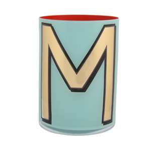 Alphabet Brush Pot - M (Aqua)