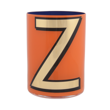 Load image into Gallery viewer, Alphabet Brush Pot - Z (Orange)