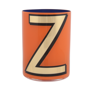 Alphabet Brush Pot - Z (Orange)