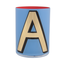 Load image into Gallery viewer, Alphabet Brush Pot - A (Periwinkle)