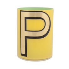 Load image into Gallery viewer, Alphabet Brush Pot - P (Yellow)