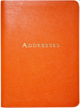 Load image into Gallery viewer, Large Orange Leather Address Book