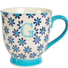 Load image into Gallery viewer, Bohemian Letter 'G' Mug