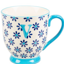 Load image into Gallery viewer, Bohemian Letter 'V' Mug