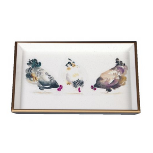 Chickens Vanity Tray