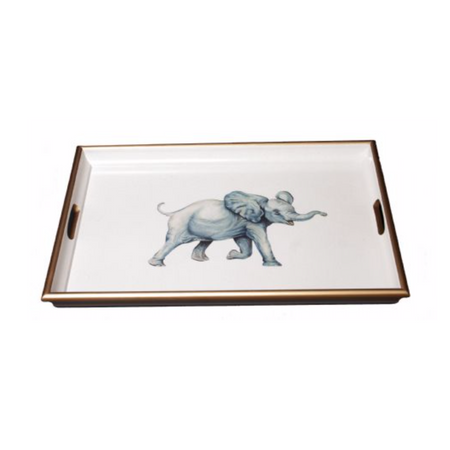 Elephant Lacquered Tray