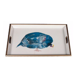 Guinea Fowl Lacquered Tray
