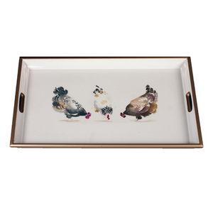 Chickens Lacquered Tray