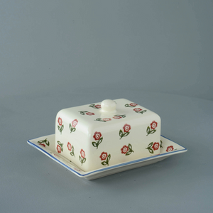 Scattered Rose Butter Dish With Lid