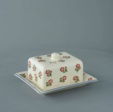 Load image into Gallery viewer, Scattered Rose Butter Dish With Lid