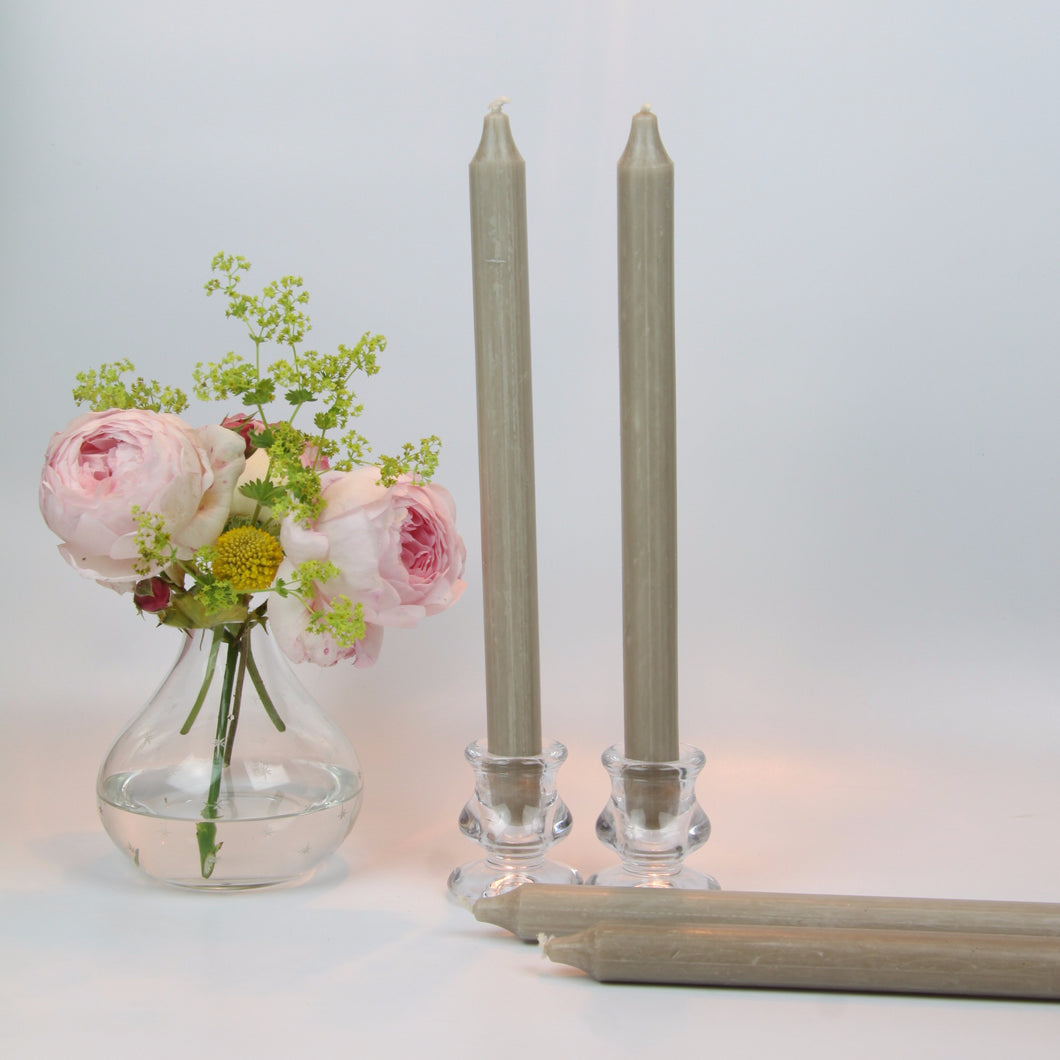 Taupe Candles - Set of Four