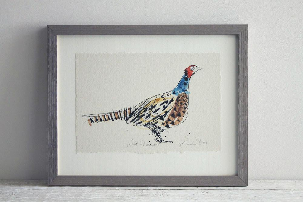 Wild Pheasant Print - Available Framed and Unframed