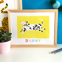 Load image into Gallery viewer, Dalmation - Personalised Name Illustration Print