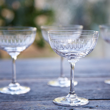 Champagne Saucers - Ovals (Set of 6 Glasses)