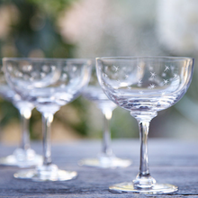 Load image into Gallery viewer, Champagne Saucers - Stars (Set of 6 Glasses)