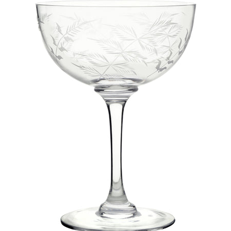 Champagne Saucers - Fern (Set of 6 Glasses)