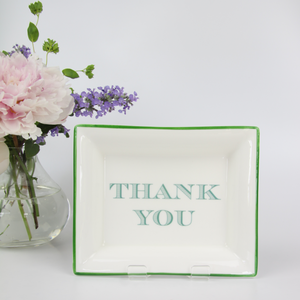 English Fine Bone China Dish - Thank You