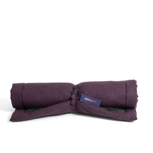 Luxury Dog Travel Bed - Grape